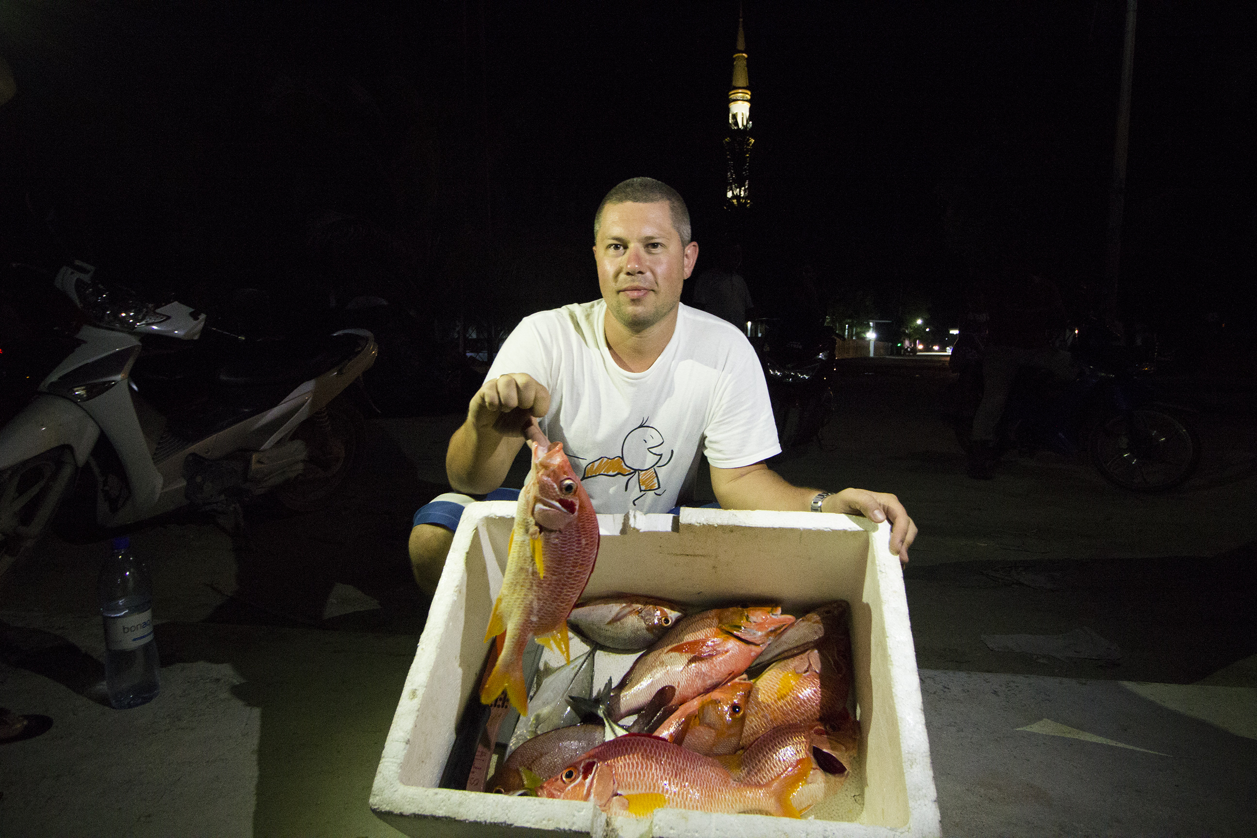 Maldives night fishing
