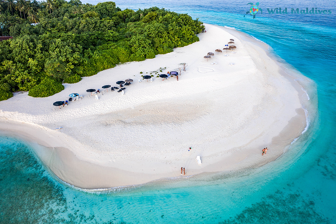 Ukulhas island in Maldives